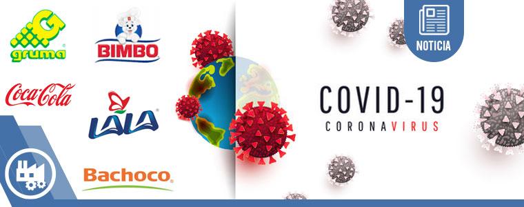 Empresas de alimentos y bebidas en México librarán golpe por COVID-19