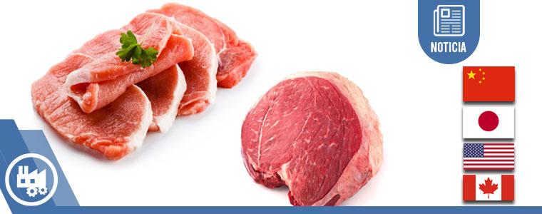 México exporta a China carne de res y cerdo