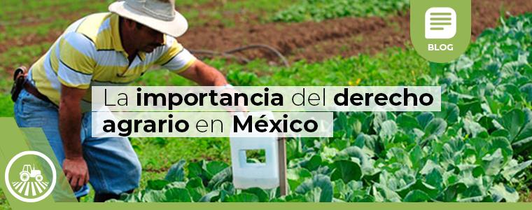 La importancia del derecho agrario en mexico