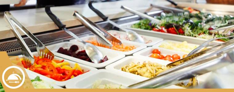 mesa de buffete industrial