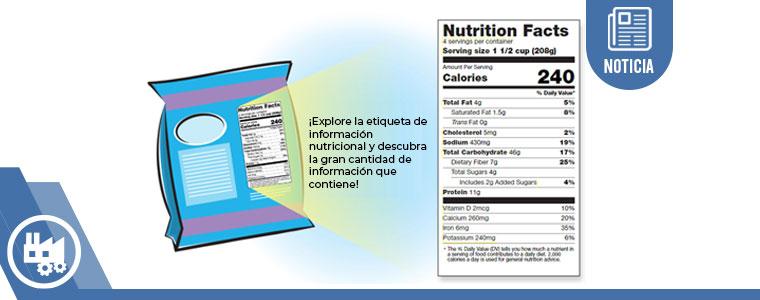 Nueva etiqueta de alimentos y bebidas FDA